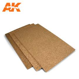 AK-Interactive Cork sheets - fine grained - 200 x 300 x 1mm