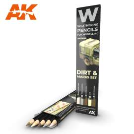 SPLASHES, DIRT AND STAINS pencil set