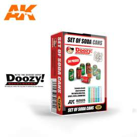 AK Interactive Doozy 1:24 Set of Soda Cans