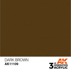 Acrylics 3rd generation Dark Brown 17ml