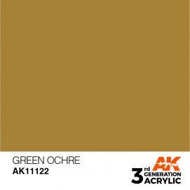 Acrylics 3rd generation Green Ocher 17ml