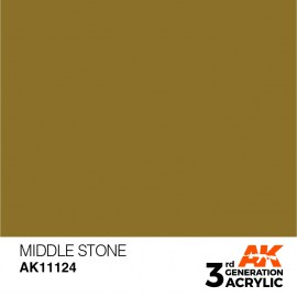 Acrylics 3rd generation Middle Stone 17ml