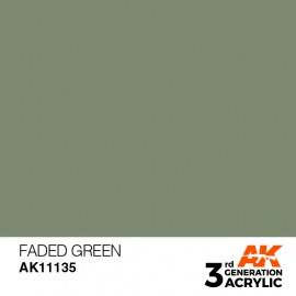Acrylics 3rd generation Faded Green 17ml