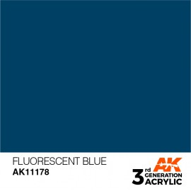 Acrylics 3rd generation Fluorescent Blue 17ml