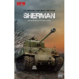 Ryefield model 1:35 M4A3 76W HVSS Sherman w/full interior