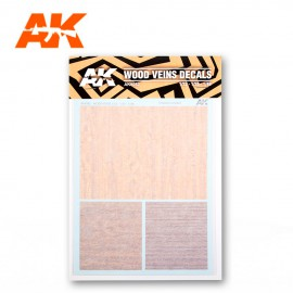 AK Interactive WOOD VEINS DECALS