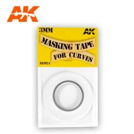 MASKING TAPE FOR CURVES 3 MM. 18 METERS LONG.