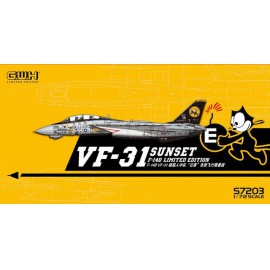 "Great Wall Hobby 1:72 US Navy F-14D VF-31 ""Sunset"" /w special PE & Decal"