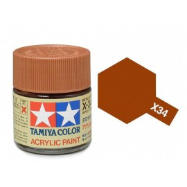 Tamiya mini acrylic X-34 Metallic Brown