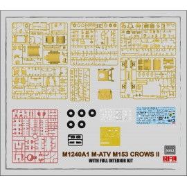Ryefield model 1:35 M1240A1 M-ATV (M153 CROWS II) with full interior