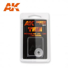 AK Interactive Elastic rigging bobbin Thin (Suitable for 1:35 / 1:32 / 1:48)